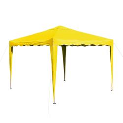 Pavillon Gartenpavillon Faltpavillon Alu/Metall 3x3 Meter gelb Garten Partyzelt