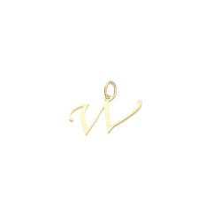 Luigi Merano Buchstabenanhänger Buchstabe W, Gold 333
