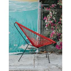 Stuhl Acapulco Chair Acapulco Design rot, 92x70x95 cm