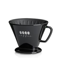 Kaffeefilter L Excelsa Porzellan schwarz 11,5cm 14,5cmØ
