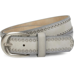styleBREAKER Nietengürtel Gürtel mit Lochnieten Gürtel mit Lochnieten grau 100cm