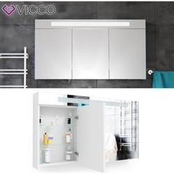 Vicco LED Spiegelschrank Weiß Badschrank Badspiegel Badezimmerspiegel 120 cm