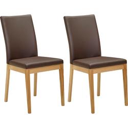 Stuhl Roberto Rücken und Sitz gepolstert braun