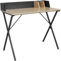Woltu Schreibtisch, Schreibtisch aus Holz & Metall, Designer X-Gestell