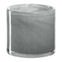 LEONARDO Teelichthalter MILANO Grau 8 cm