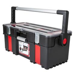 Werkzeugkoffer aus kunststoff mit organizer