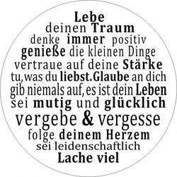 Glasbild LEBENSWEISHEIT Pro-Art