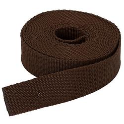 buttinette Taschengurtband, braun, Breite: 2,5 cm, Länge: 3 m