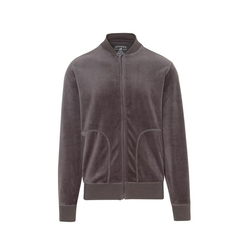 Jockey® Velour Lounge Jacket - S - Granite