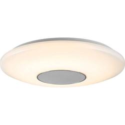 WOFI APOLLON 9932.01.06.9400 LED-Deckenleuchte mit Lautsprecher Weiß, Grau 24W