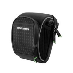 ROCKBROS Fahrradtasche Fahrrad Rahmentasche Fahrradtasche mini Lenkertasche, schwarz