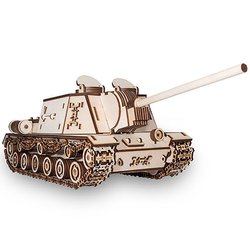 Eco Wood Art 3D-Puzzle ISU-152 – Panzer – mechanischer Modellbausatz aus Holz, Puzzleteile