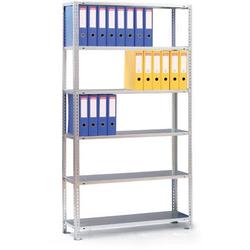 Ordnerregal compact, 2200 x 750 x 300 mm, grau, basis