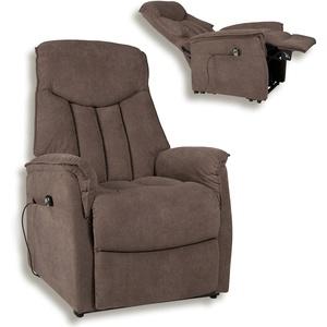 TV-Sessel - dunkelbraun - mit Aufstehhilfe