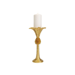 KARE Kerzenständer Kerzenständer Palm Tree Gold 33cm goldfarben