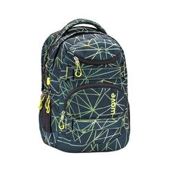 Wave Schulrucksack Infinity, Schultasche, für die weiterführende Schule, Rucksack für Mädchen und Jungen grün