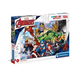Clementoni® Puzzle Puzzle 104 Teile, Supercolor - Avengers, Puzzleteile