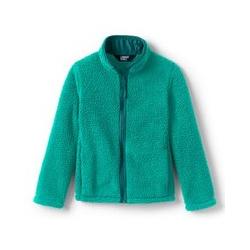 Jacke aus Teddyfleece - 128/134 - Grün