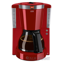 Melitta Filterkaffeemaschine 1011-17 Look Tropfstopp - Glaskanne rot