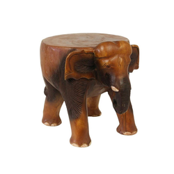 Oriental Galerie Blumenhocker Hocker Elefant 28cm, Handarbeit