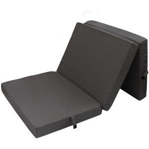 HERLAG Klappmatratze Senior (Farbe dunkelgrau, Maße 195x85x10 cm, Gästebett, Faltmatratze, Bezug waschbar) P05010-2079