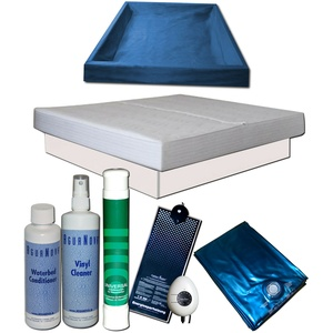 Wasserbett Komplett - MONO Softside Carbon Heater Classic Starter Set Podest