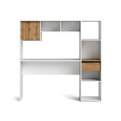 ebuy24 Schreibtisch Plus Schreibtisch integriert in ein Regalsystem, W
