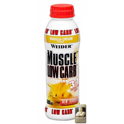 Muscle Low Carb Protein Drink - 500 ml PET Flasche - WEIDER® - Erdbeere