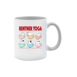 Shirtracer Tasse Rentner Yoga Katzen in Tassen - Tasse Berufe - Tasse zweifarbig - Tassen, yoga tasse