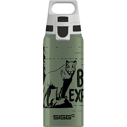Alu-Trinkflasche WMB ONE Brave Mountainlion , 600 ml grün-kombi