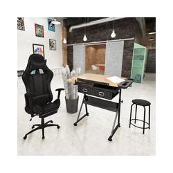 Neigbare Tischplatte-Zeichentisch mit Burostuhl