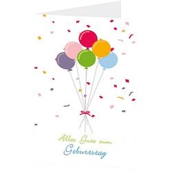 LUMA Geburtstagskarte Luftballon DIN B6