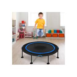 COSTWAY Kindertrampolin Mini Trampolin, Fitness Trampolin, Gartentrampolin, φ 120 cm, bis 65kg belastbar, Indoor- und Outdoortrampolin blau