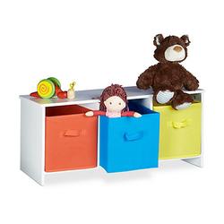 Kindersitzbank mit Stauraum ALBUS weiß