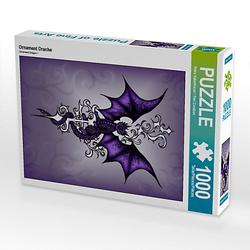 Ornament Drache Lege-Größe 48 x 64 cm Foto-Puzzle Bild von Pezi Creation Puzzle