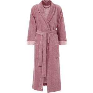 Gözze Turin Soft Bademantel mit Schalkragen, beere, Morgenmantel aus 50% Baumwolle und 50% Microfaser, Größe: M