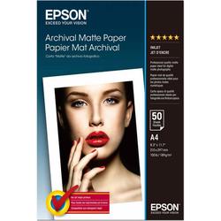 Original Epson Archival Matte Papier A4 50 Blatt mattes Fotopapier für Stylus...