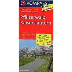 Kompass Fahrradkarten: KOMPASS Fahrradkarte Pfälzerwald - Kaiserslautern - Buch