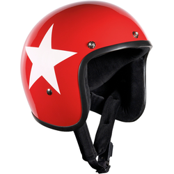Bandit Jet Star Red Jethelm, rot, Größe M