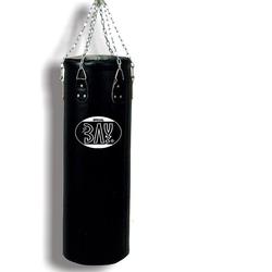 BAY-Sports Boxsack Sandsack 120 x 30 cm Canvas schwarz ungefüllt groß