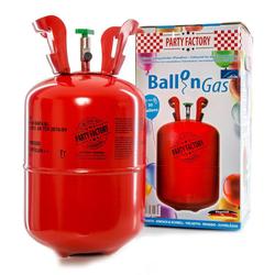 Party Factory Luftballon Ballongas / Heliumgas, 250 Liter, Helium Gas, Einwegflasche, Pfandfrei, inkl. Abfüllhilfe