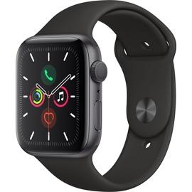 Apple Watch Series 5 (GPS) 44mm Aluminiumgehäuse Space Grau, Sportarmband Schwarz