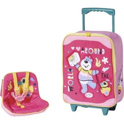 Baby Born Puppen Koffer Holiday Trolley mit Puppensitz rosa Kinder Ab 3-5 Jahren Altersempfehlung Puppenaustattungen