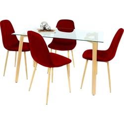 Essgruppe, (Set, 5-tlg) rot