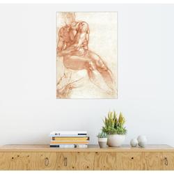 Posterlounge Wandbild, Sitzender Männerakt – Studie 100 cm x 130 cm
