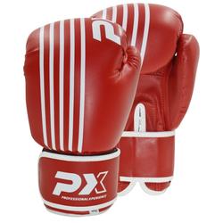 PX Boxhandschuhe SPARRING, PU rot-weiß (Größe: 14 Oz)