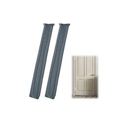 relaxdays Zugluftstopper 2x Zugluftstopper für Türen grau