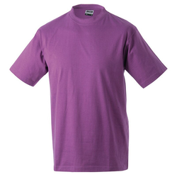 Kinder T-Shirt | James & Nicholson lila 110/116 (S)
