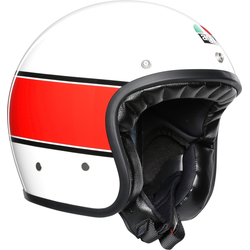 AGV X70 Mino 73 Jethelm, weiss-rot