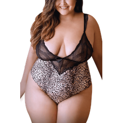 Leoparden Body Plus Size